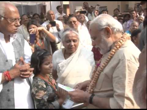 PM Modi visits the Maa Anandmayee Ashram, in Varanasi
