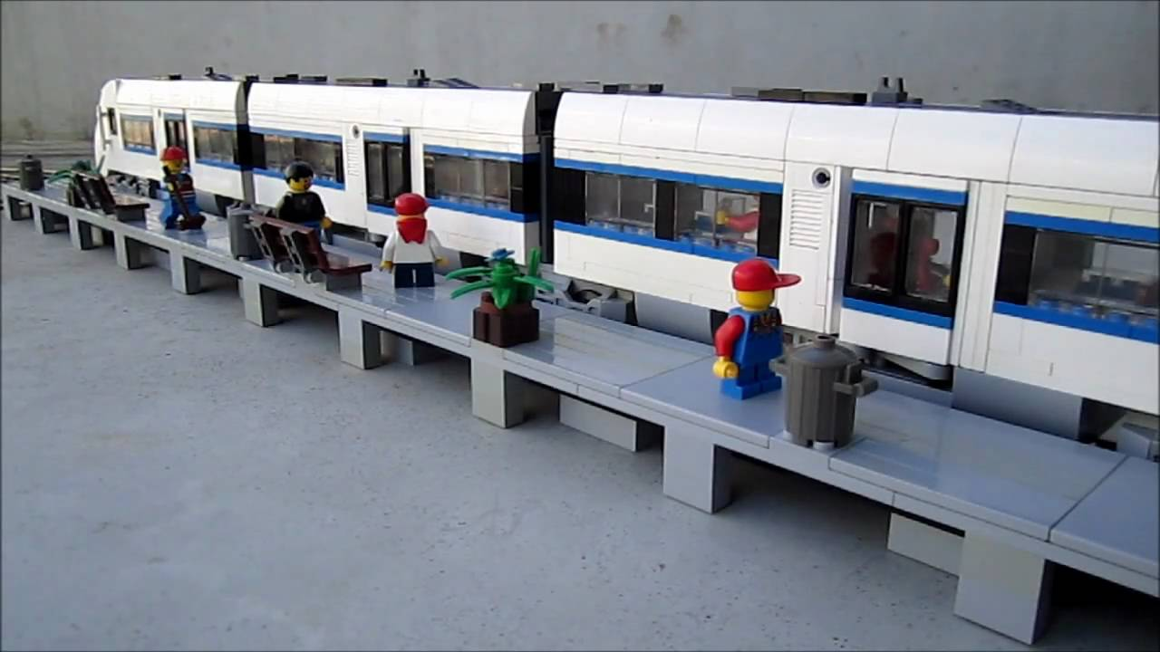 Lego Intercity Train With Automatic Sliding Doors Youtube