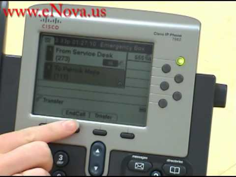 Cisco Ip Phone 7962 Direct Transfer Youtube