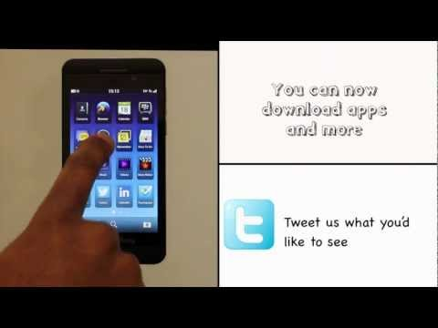 Signing into your BlackBerry ID using your BlackBerry Z10 | The Human Manual