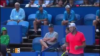 Jack Sock hot shot vs Kyrgios Hopman Cup 2017
