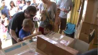 Jack Black & Family Visit Caine's Arcade