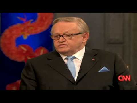 Nobel winner on Kosovo, Martti Ahtisaari .