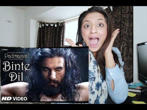 Reaction To Padmaavat: Binte Dil Video Song | Arijit Singh | Ranveer Singh