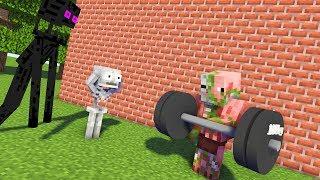 Monster School : FITNESS TRAINING LESSON CHALLENGE - Minecraft Animation