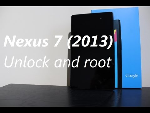 How to unlock and root your New Nexus 7 (2013)
