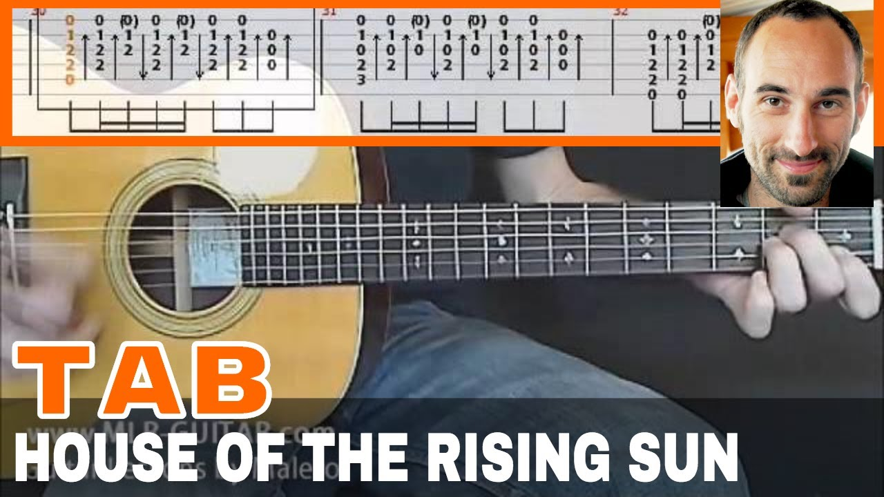 The rising sun chords for guitar