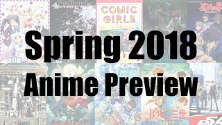 Spring 2018 Anime Preview Guide