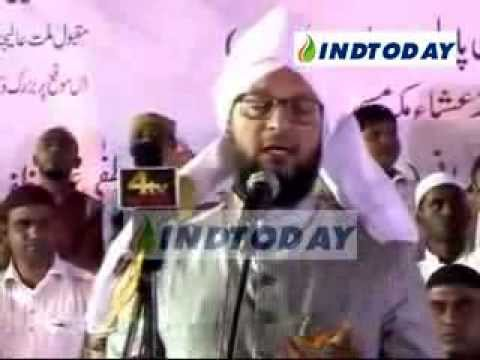 MIM President Asaduddin Owaisi speech at Makkah Masjid Hyderabad...