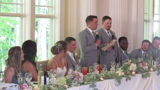 Funny Best Man Speech by Brothers!
