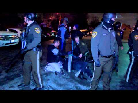 Highway Patrol Commander and Police assist man run over by carjackers in Ferguson
