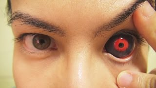 How to: Insert And Remove Tokyo Ghoul Sclera Contact Lenses (Fxeyes)