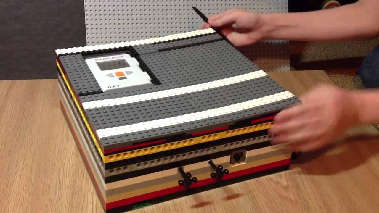 Видео как сделать из лего сейф с кнопками