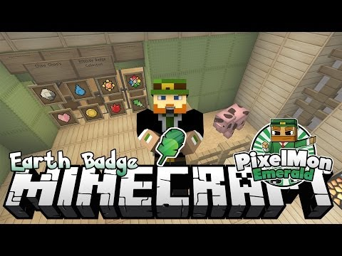 Minecraft Pixelmon Emerald #127 Earth Badge