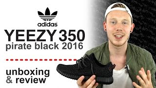 YEEZY BOOST 350 PIRATE BLACK 2016 UNBOXING & REVIEW
