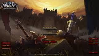 Login screen - BFA World of Warcraft