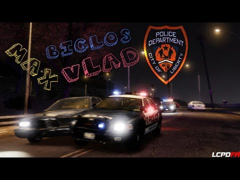 GTA IV LCPDFR MP Полицейские будни #1 [Стажёр]