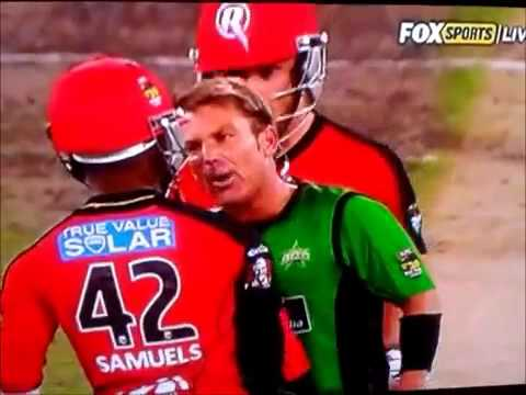 Shane Warne vs Marlon Samuels - FULL FIGHT