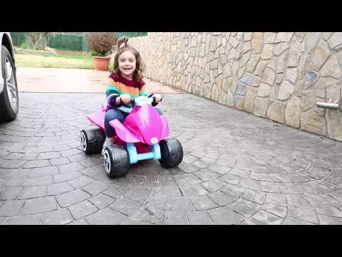 Emily Driving Power Wheels Ride on Cars for Kids