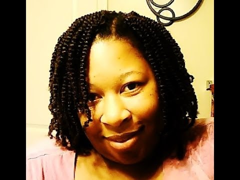Kinky Twist Crochet Hair Styles : Crochet Braided hairstyle Afro Kinky Twists - YouTube