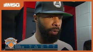 Marcus Morris Discusses Ejection in Knicks Preseason Debut | New York Knicks