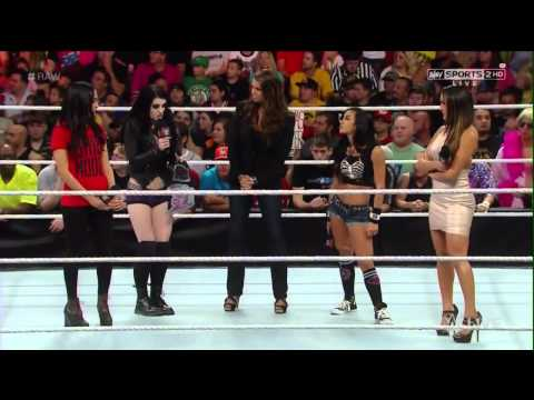 Stephanie McMahon, Brie Bella, Nikki Bella, Aj Lee & Paige Segment 1/09/14