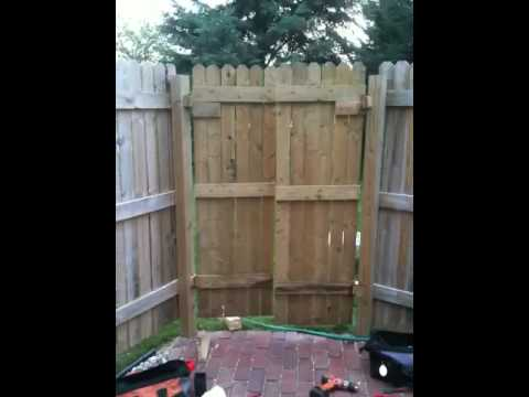 Saloon Style Fence Gate Youtube