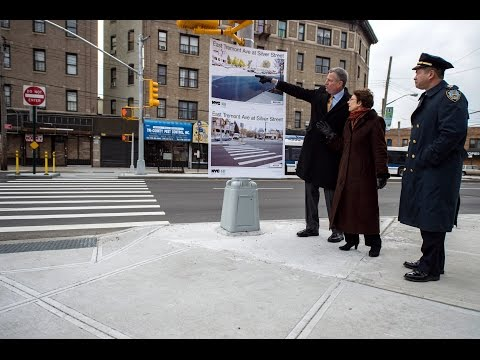 Mayor de Blasio Hosts Press Conference to Make Vision Zero-Related Announcement