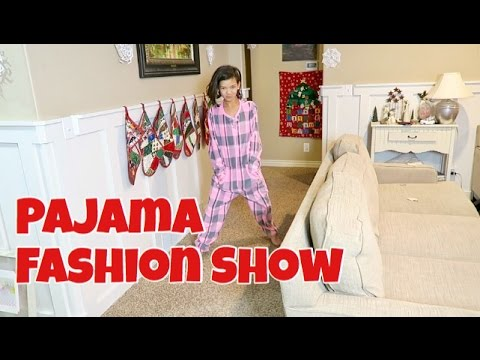 PAJAMA FASHION SHOW CHRISTMAS EVE   FAM TRADITIONS