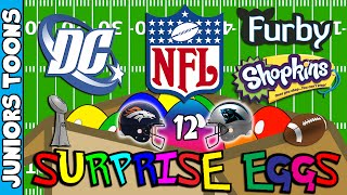 Super Bowl Opening Surprise Eggs #12 | Broncos Panthers Shopkins Dc Comics and More!