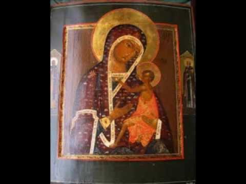 Кондак 13: о всепетая мати, рождшая всех святых святейшее слово, нынешнее приемши приношение