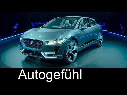Jaguar I-PACE electric vehicle concept Reveal Exterior/Interior/Technology - Autogefühl