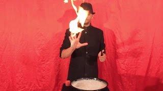 تعلم العاب الخفة # 361 .... Fire on hand  ... magic trick revealed