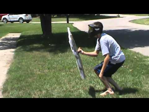 Homemade airsoft riot shield