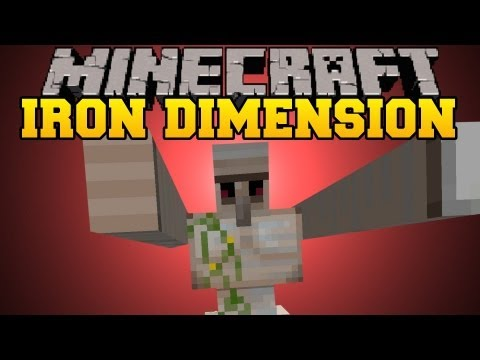 Minecraft Mod Showcase - Iron Dimension Mod - Mod Review