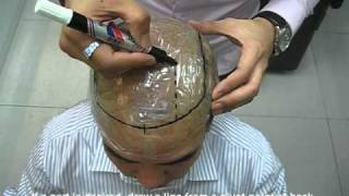How to make a template for Hair Pieces, Toupees, Hair Replacement Systems.