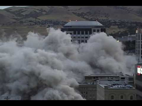 Key Bank Implosion Downtown Salt Lake