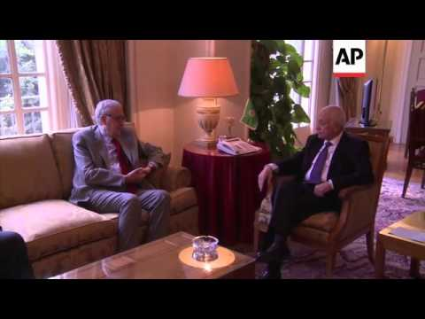Arab League Secretary-General holds talks with Syria envoy Brahimi