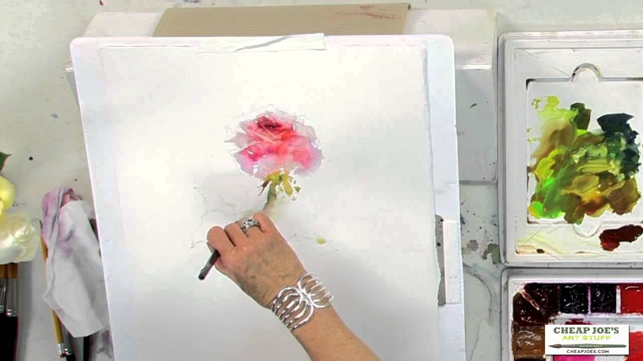 21182 >> Watercolor Techniques with Janet Rogers - Painting Roses - YouTube
