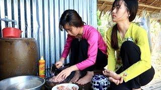 Chị em Huỳnh Như làm món Xíu Mại ăn với bánh mì | Thôn Nữ Miền Tây