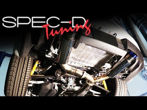 SPECDTUNING INSTALLATION VIDEO: 2008-2012 MITSUBISHI EVO X CAT-BACK EXHAUST SYSTEM