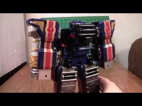 Power Rangers Solar Streak Megazord Review (Mystic Force Magiranger Travelion Toy)