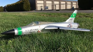 Freewing F-105 Thunderchief 64mm EDF Jet Maiden Flight Review