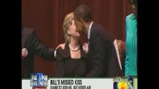 Hillary Kisses Obama after Rejecting Bill!