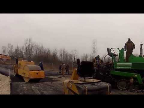 Globe Paving laying asphalt at Planes Indianapolis