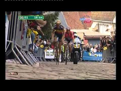 Cancellara attacks Boonen on Muur to win 2010 Tour Of Flanders