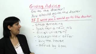 Polite English - How to give advice