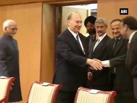 Vice President Hamid Ansari meets Prince Karim Aga Khan