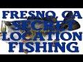 FRESNO, CA FISHING SECRET LOCATION - STRIPED BASS BLUEGILL - HOW TO CATCH BULEGILL