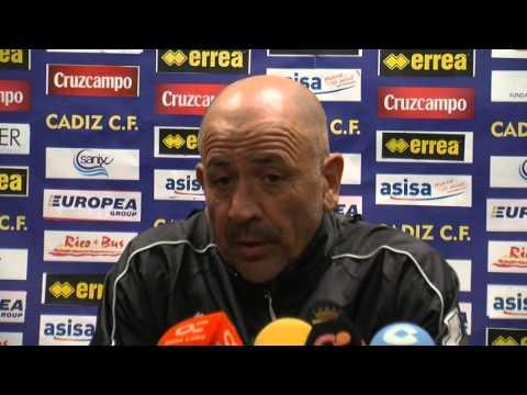 Claudio Barragán en previa Villanovense-Cádiz (19-12-14)
